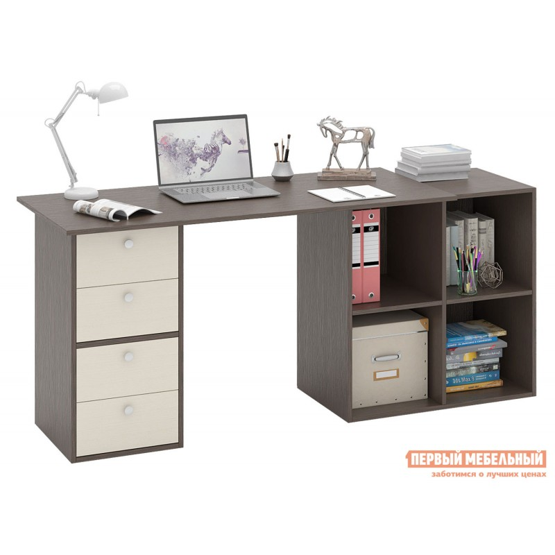 Письменный стол  Прайм-78 Венге / Дуб молочный