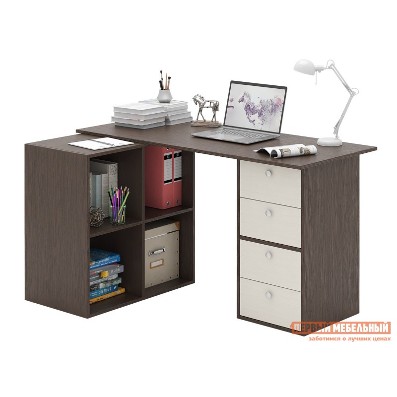 Письменный стол  Прайм-78 Венге / Дуб молочный (фото 3)