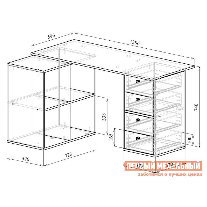 Письменный стол  Прайм-78 Венге / Дуб молочный (фото 6)