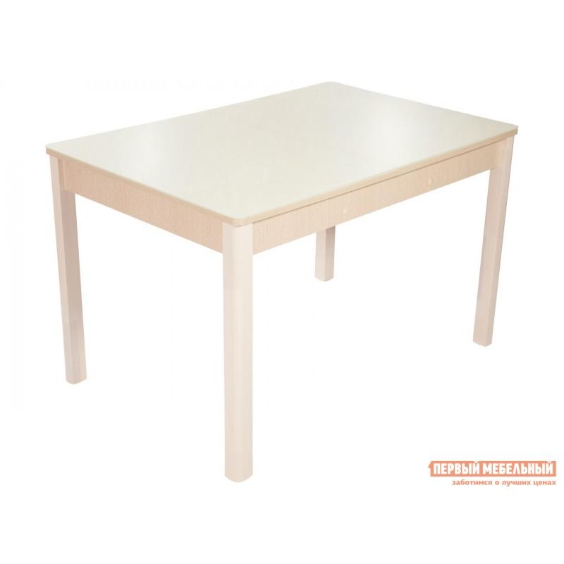 Обеденная группа для столовой и гостиной  Стол Гамбург + 4 стула Риоха Молочный, Дуб выбеленный / Батлер 02; Nitro Brown; Молочный (фото 2)