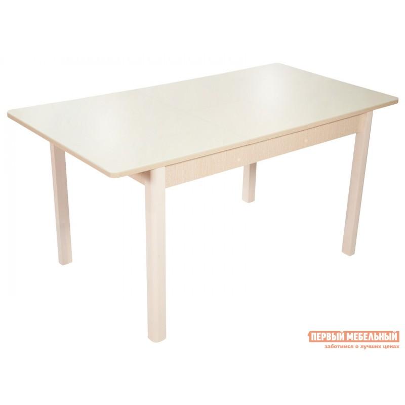 Обеденная группа для столовой и гостиной  Стол Гамбург + 4 стула Риоха Молочный, Дуб выбеленный / Батлер 02; Nitro Brown; Молочный (фото 3)