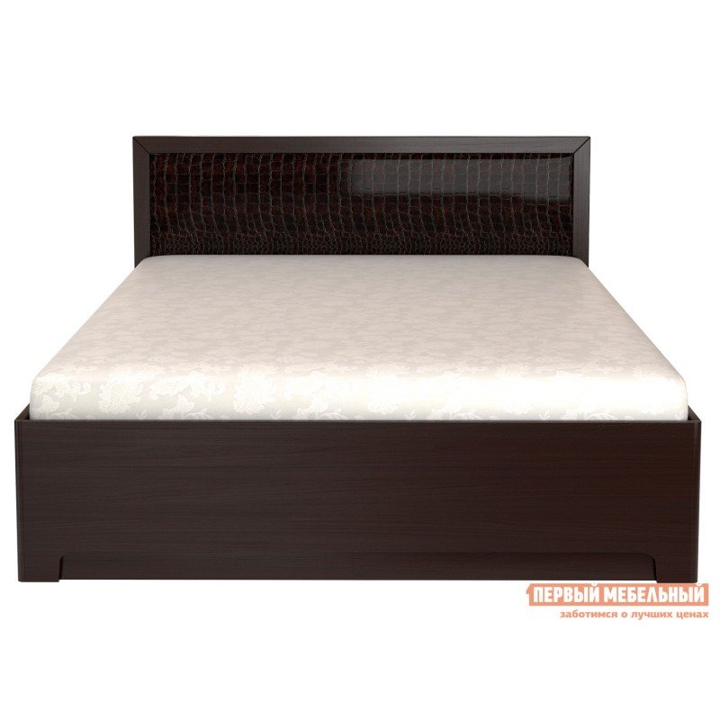 Двуспальная кровать  Кровать Парма 1 / Кровать с подъемным механизмом Парма 1 Венге / Искусственная кожа caiman, 1400 Х 2000 мм, С подъемным механизмом (фото 2)