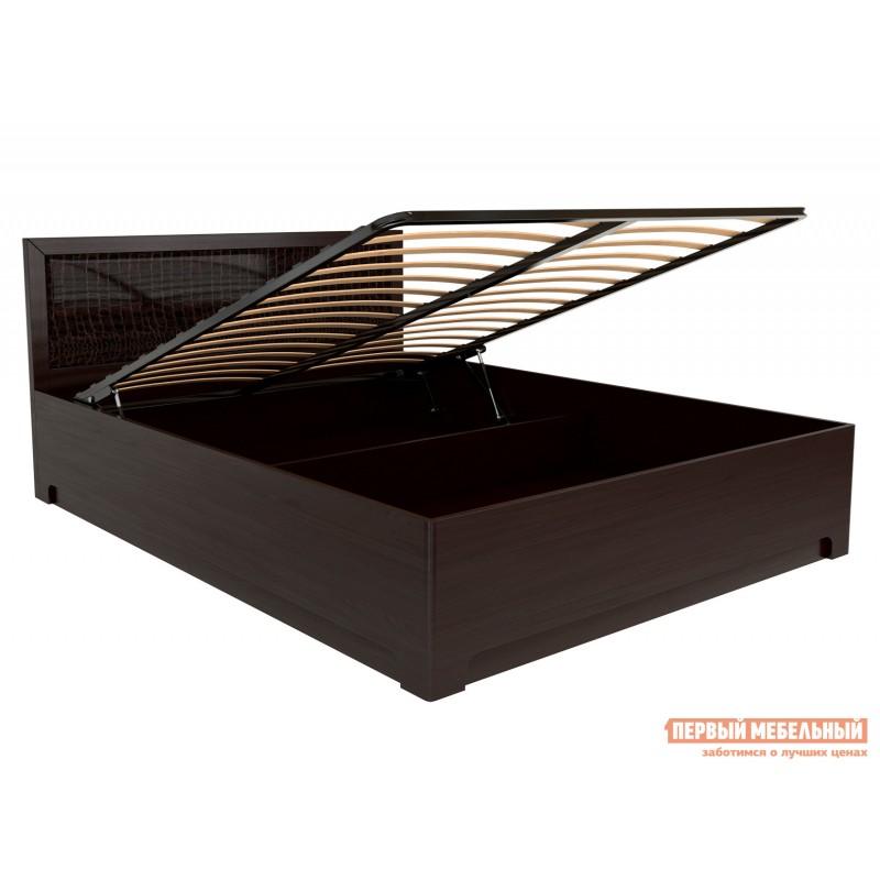 Двуспальная кровать  Кровать Парма 1 / Кровать с подъемным механизмом Парма 1 Венге / Искусственная кожа caiman, 1400 Х 2000 мм, С подъемным механизмом (фото 4)