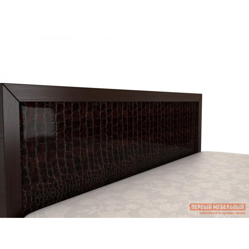 Двуспальная кровать  Кровать Парма 1 / Кровать с подъемным механизмом Парма 1 Венге / Искусственная кожа caiman, 1400 Х 2000 мм, С подъемным механизмом (фото 5)