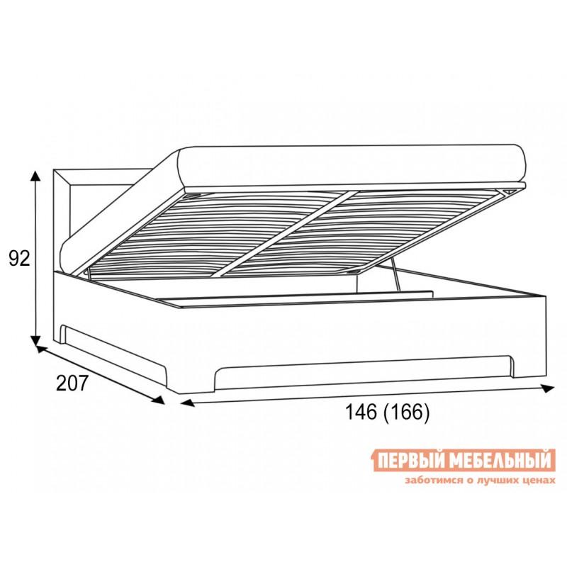 Двуспальная кровать  Кровать Парма 1 / Кровать с подъемным механизмом Парма 1 Венге / Искусственная кожа caiman, 1400 Х 2000 мм, С подъемным механизмом (фото 7)