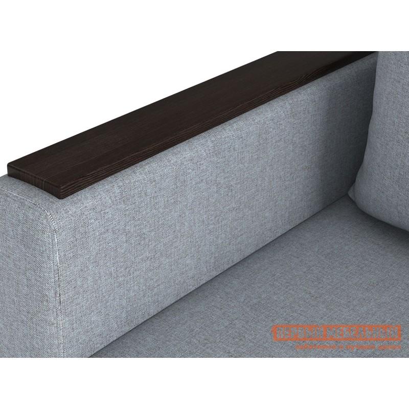 Прямой диван  Диван Челси с подлокотниками Серо-голубой, рогожка (фото 3)
