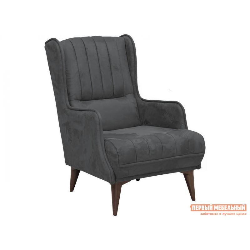 Кресло  Болеро Темно-серый, иск. замша