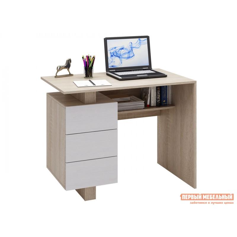 Письменный стол  Ренцо-1 Дуб сонома / Белый