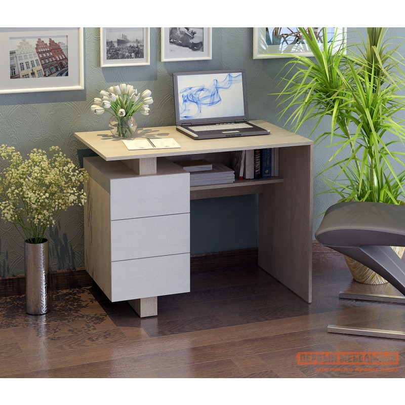 Письменный стол  Ренцо-1 Дуб сонома / Белый (фото 2)