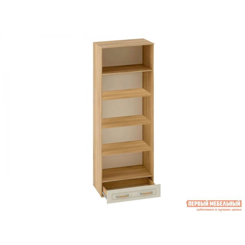 Распашной шкаф  Шкаф 2-х створчатый Маркиза Дуб Сонома / Крем Сатин, С полками (фото 2)