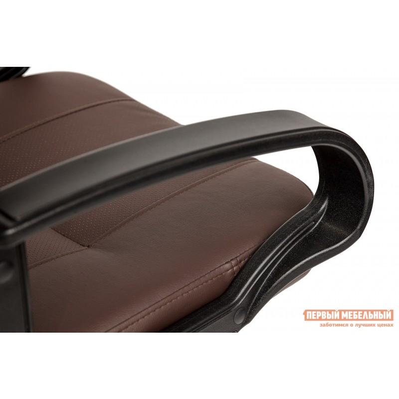Кресло руководителя  Devon Иск.кожа коричневая перфор. (36-36/36-36/06) (фото 7)