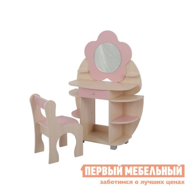 Столик и стульчик  Набор Ромашка Дуб млечный / Розовый
