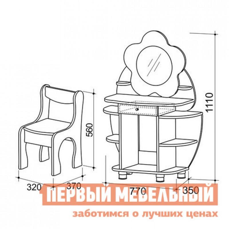 Столик и стульчик  Набор Ромашка Дуб млечный / Розовый (фото 2)