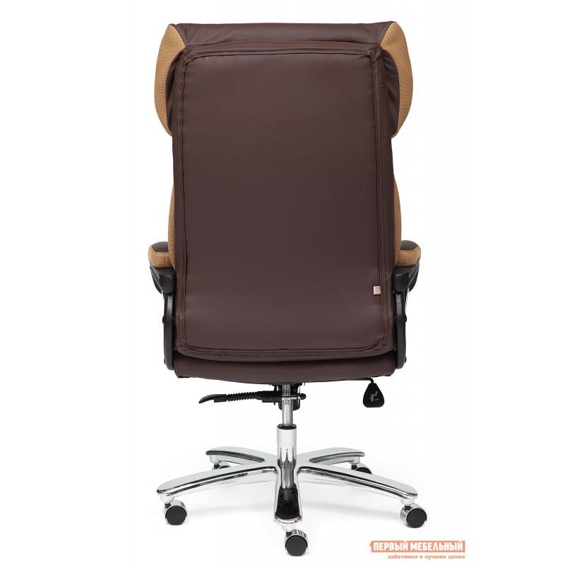 Кресло руководителя  GRAND Кож/зам/ткань, коричневый/бронза, 36-36/21 (фото 5)