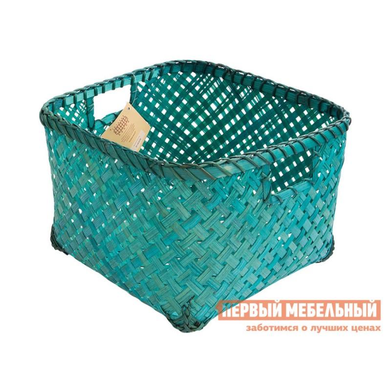 Корзина для хранения  Изумрудное плетение Изумрудный, бамбук, M