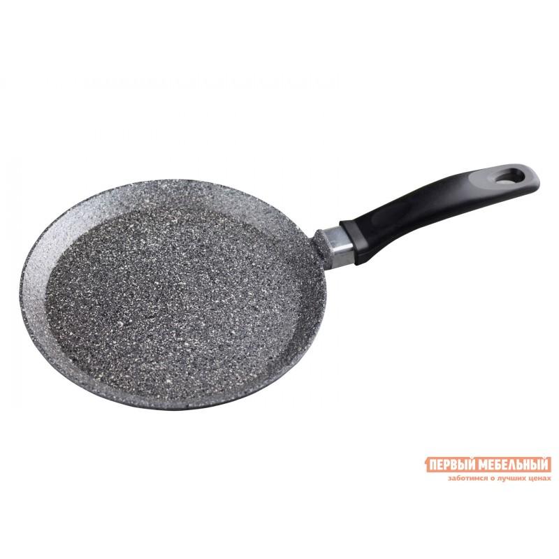 Сковорода  Сковорода блинная, Casta Мрамор, 22 см, литой алюминий Серый мрамор