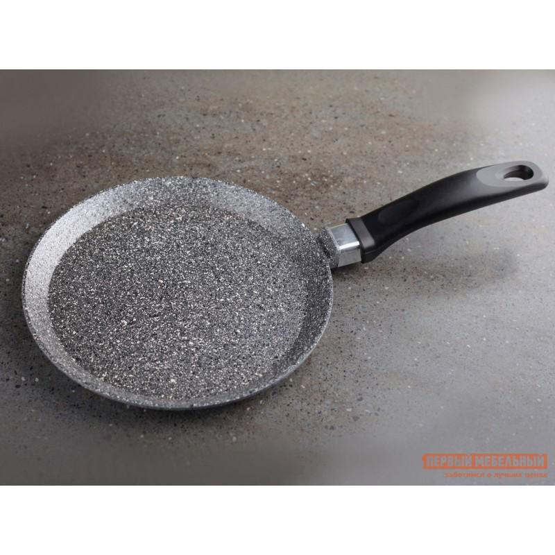 Сковорода  Сковорода блинная, Casta Мрамор, 22 см, литой алюминий Серый мрамор (фото 2)