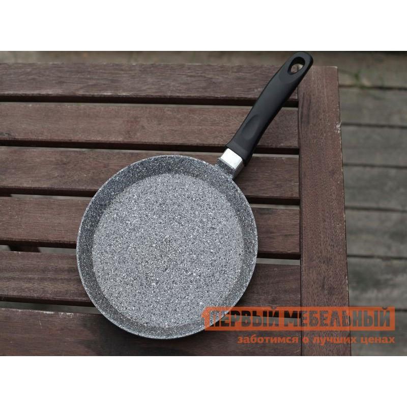 Сковорода  Сковорода блинная, Casta Мрамор, 22 см, литой алюминий Серый мрамор (фото 3)