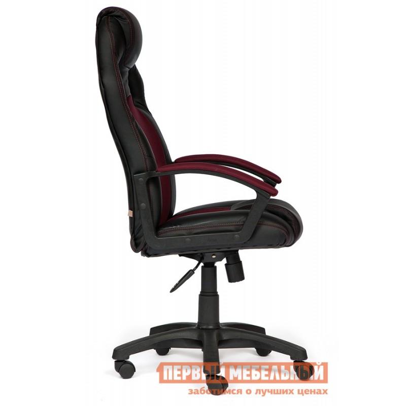 Игровое кресло  Driver Иск. кожа черная / Ткань бордо, 36-6/13 (фото 2)