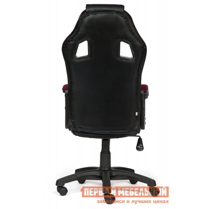Игровое кресло  Driver Иск. кожа черная / Ткань бордо, 36-6/13 (фото 3)