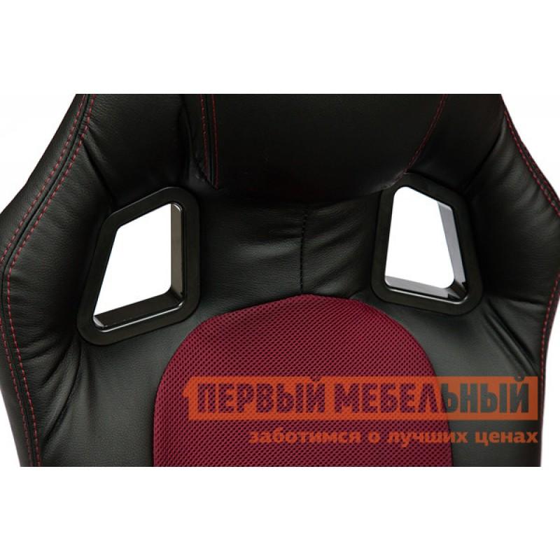 Игровое кресло  Driver Иск. кожа черная / Ткань бордо, 36-6/13 (фото 4)