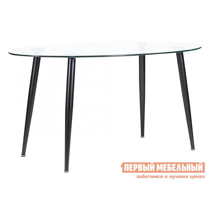 Кухонный стол  12476 Стол KASSEL (mod. DT333) Стекло / Черный, металл