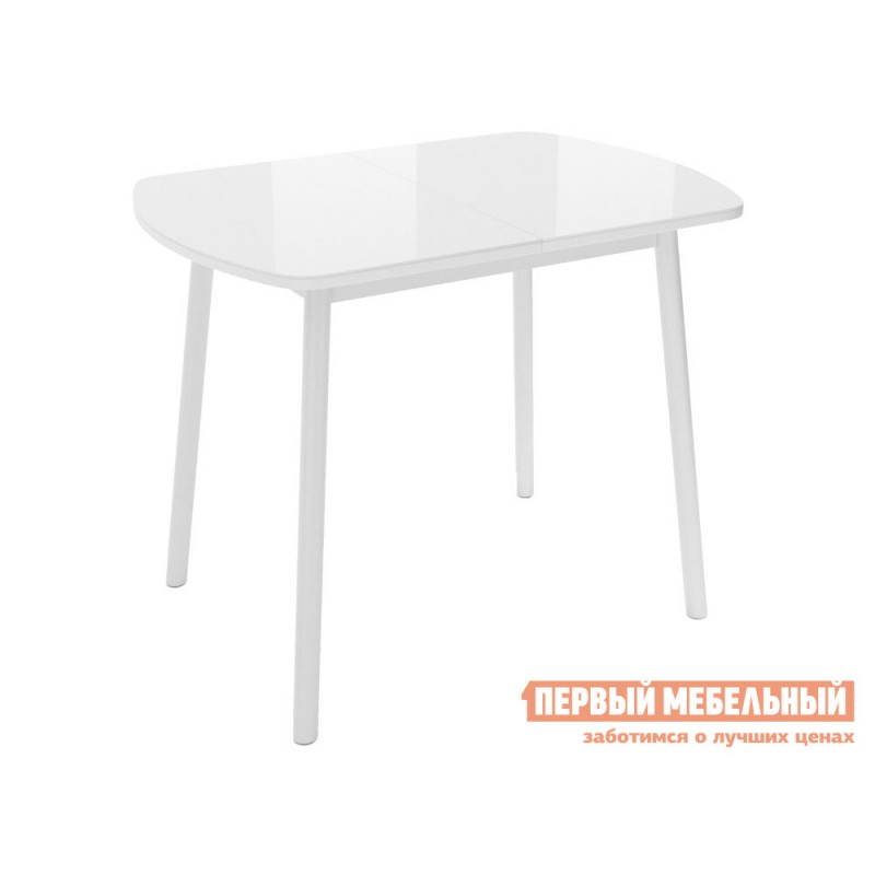 Кухонный стол  Винер Мини Белый глянец / Белый, металл
