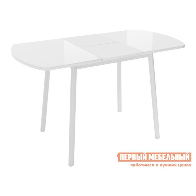 Кухонный стол  Винер Мини Белый глянец / Белый, металл (фото 2)