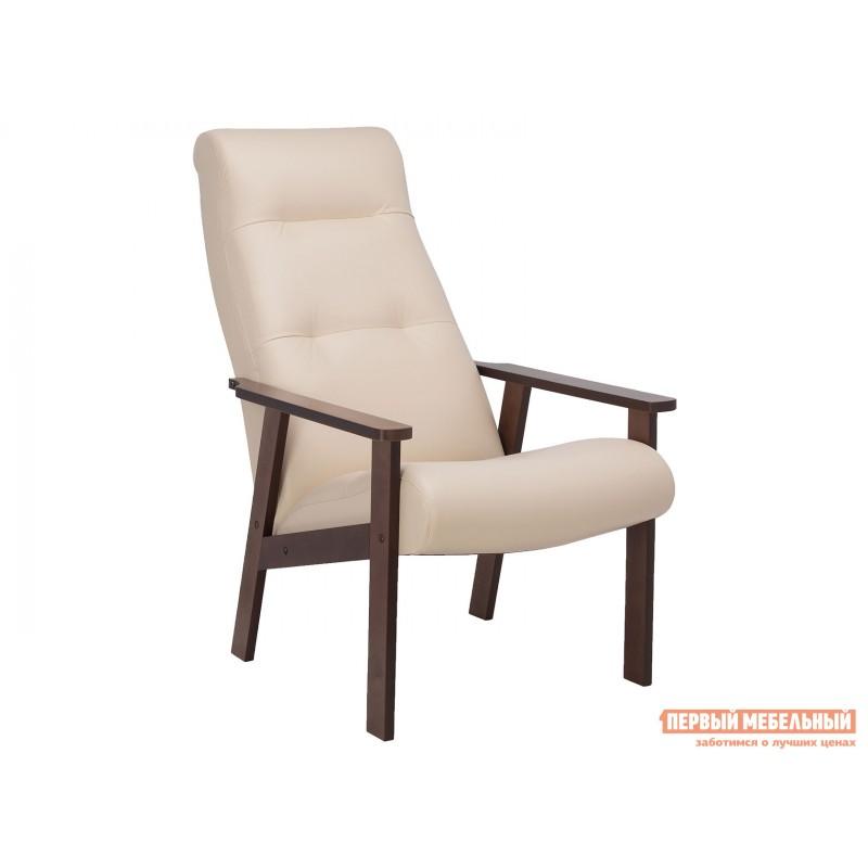 Кресло  Кресло Leset Retro Орех, Polaris beige, иск. кожа