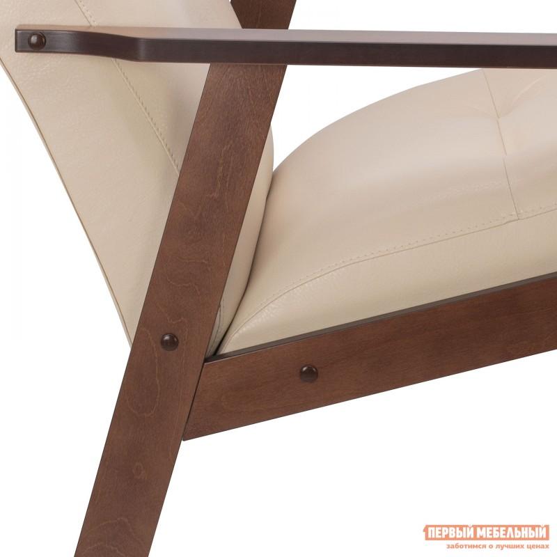 Кресло  Кресло Leset Retro Орех, Polaris beige, иск. кожа (фото 5)
