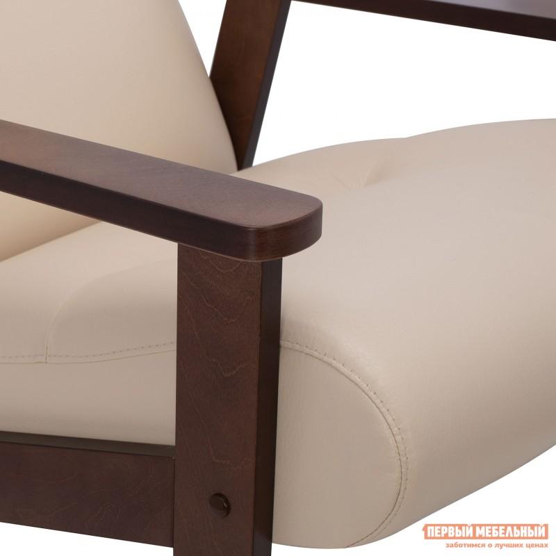 Кресло  Кресло Leset Retro Орех, Polaris beige, иск. кожа (фото 6)