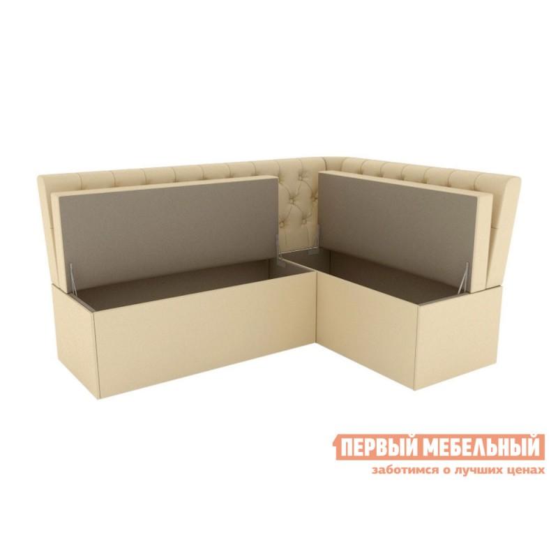 Кухонный диван  Скамья угловая Патрисия Бежевый, экокожа (фото 2)