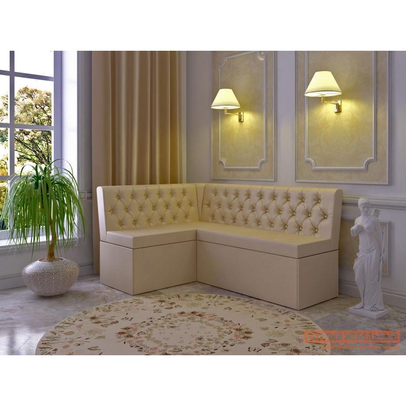 Кухонный диван  Скамья угловая Патрисия Бежевый, экокожа (фото 3)