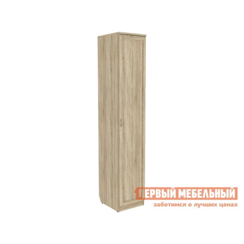 Распашной шкаф  Мерлен 105 с полками Дуб Сонома, Без зеркала