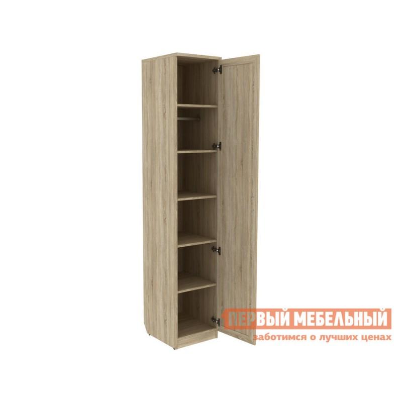 Распашной шкаф  Мерлен 105 с полками Дуб Сонома, Без зеркала (фото 2)