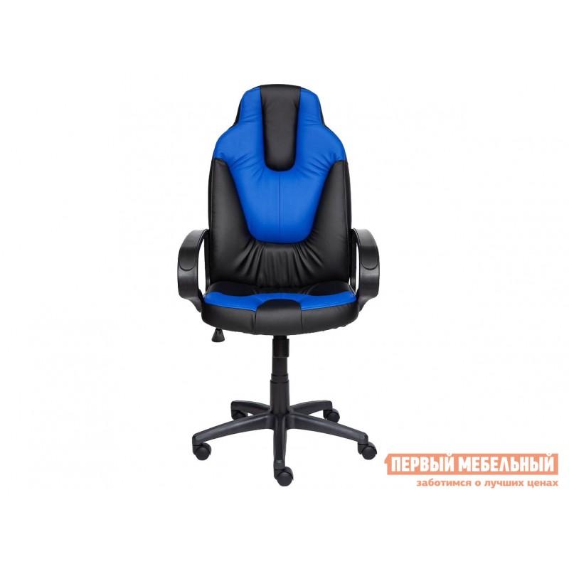 Игровое кресло  NEO (1) Иск. кожа черная / синяя (фото 2)