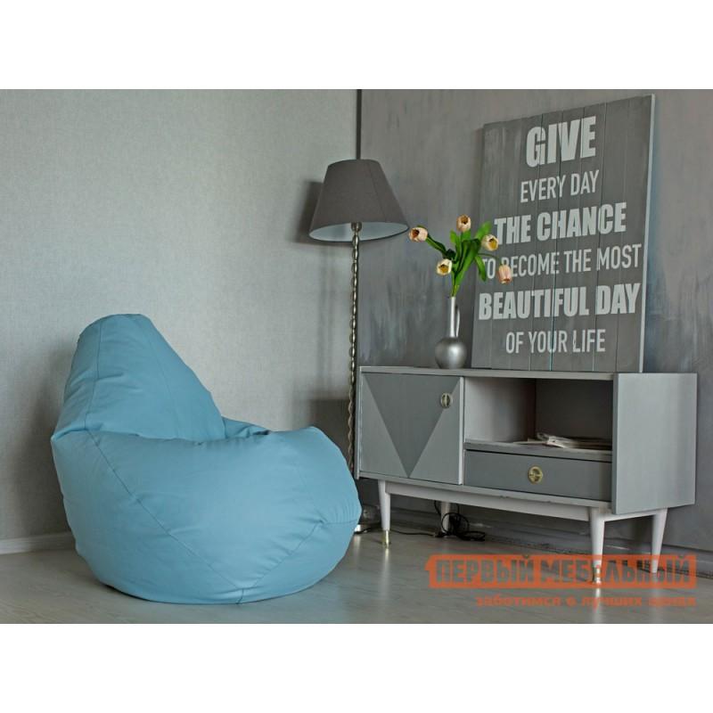 Кресло-мешок  Кресло-мешок Ашли Голубая экокожа, XL (фото 2)