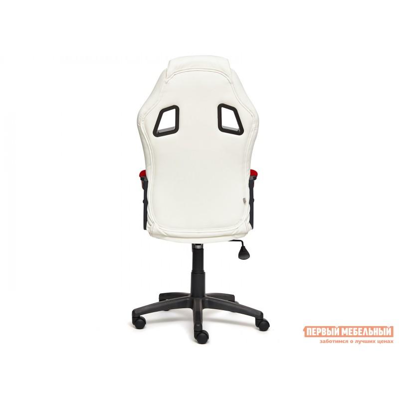 Игровое кресло  Driver Кож/зам + ткань, белый/красный (фото 4)