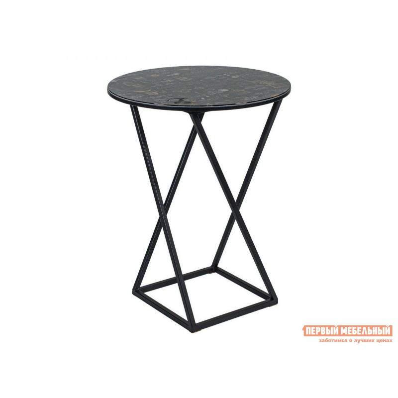Журнальный столик  Стол ДП1-03-05 кофейный М100 Кофе хаус / Черный матовый