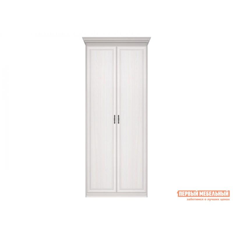 Распашной шкаф  Шкаф 2-х дверный Неаполь Ясень Анкор светлый / Патина серебро, Без зеркала (фото 2)