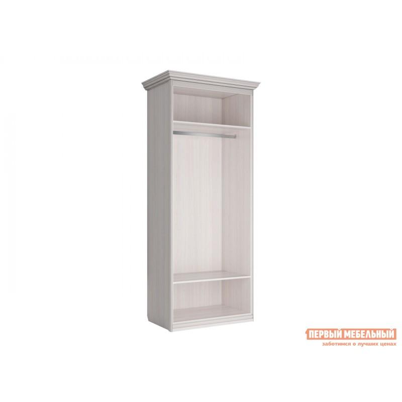 Распашной шкаф  Шкаф 2-х дверный Неаполь Ясень Анкор светлый / Патина серебро, Без зеркала (фото 3)