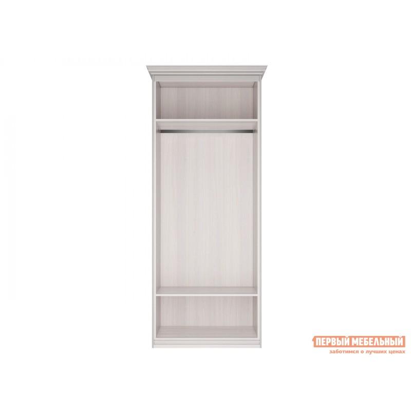 Распашной шкаф  Шкаф 2-х дверный Неаполь Ясень Анкор светлый / Патина серебро, Без зеркала (фото 4)