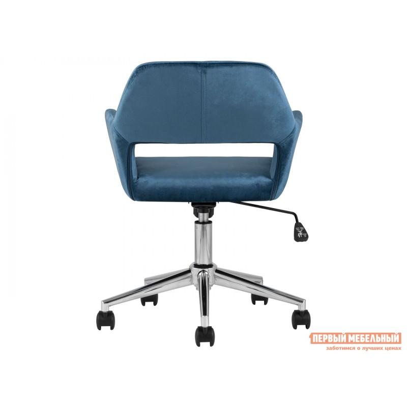 Офисное кресло  Стул офисный ROSS Синий, велюр / Хром (фото 4)