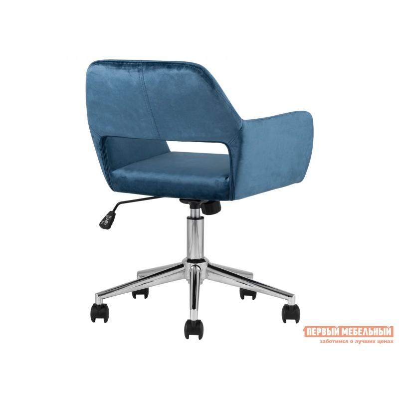 Офисное кресло  Стул офисный ROSS Синий, велюр / Хром (фото 5)