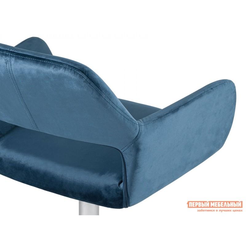 Офисное кресло  Стул офисный ROSS Синий, велюр / Хром (фото 7)