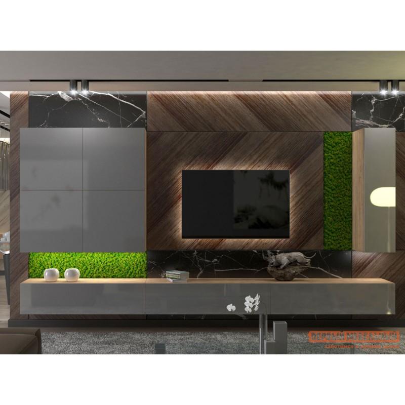 Гостиная  Гостиная Сан Марино 2 Бунратти / Серый глянец, С подсветкой