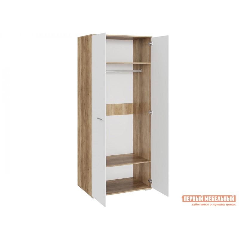 Шкаф распашной  Шкаф для одежды Лейла Дуб каньон / Белый глянец (фото 2)