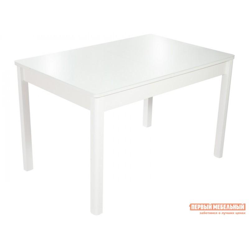Обеденная группа для столовой и гостиной  Стол Гамбург + 4 стула Асти Аврора вайт, экокожа / Белый, ЛДСП / Белый, стекло (фото 2)