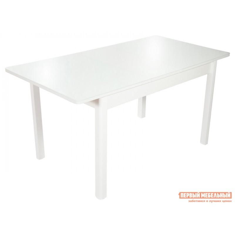 Обеденная группа для столовой и гостиной  Стол Гамбург + 4 стула Асти Аврора вайт, экокожа / Белый, ЛДСП / Белый, стекло (фото 3)