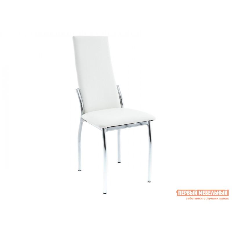 Обеденная группа для столовой и гостиной  Стол Гамбург + 4 стула Асти Аврора вайт, экокожа / Белый, ЛДСП / Белый, стекло (фото 4)